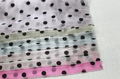 Flocking Dots Crystal Organza Fabric