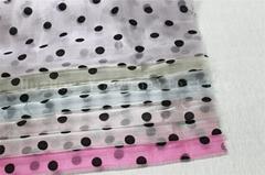 Flocking Dots Crystal Organza Fabric