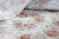 Printed Flower Design Crystal Organza Fabric