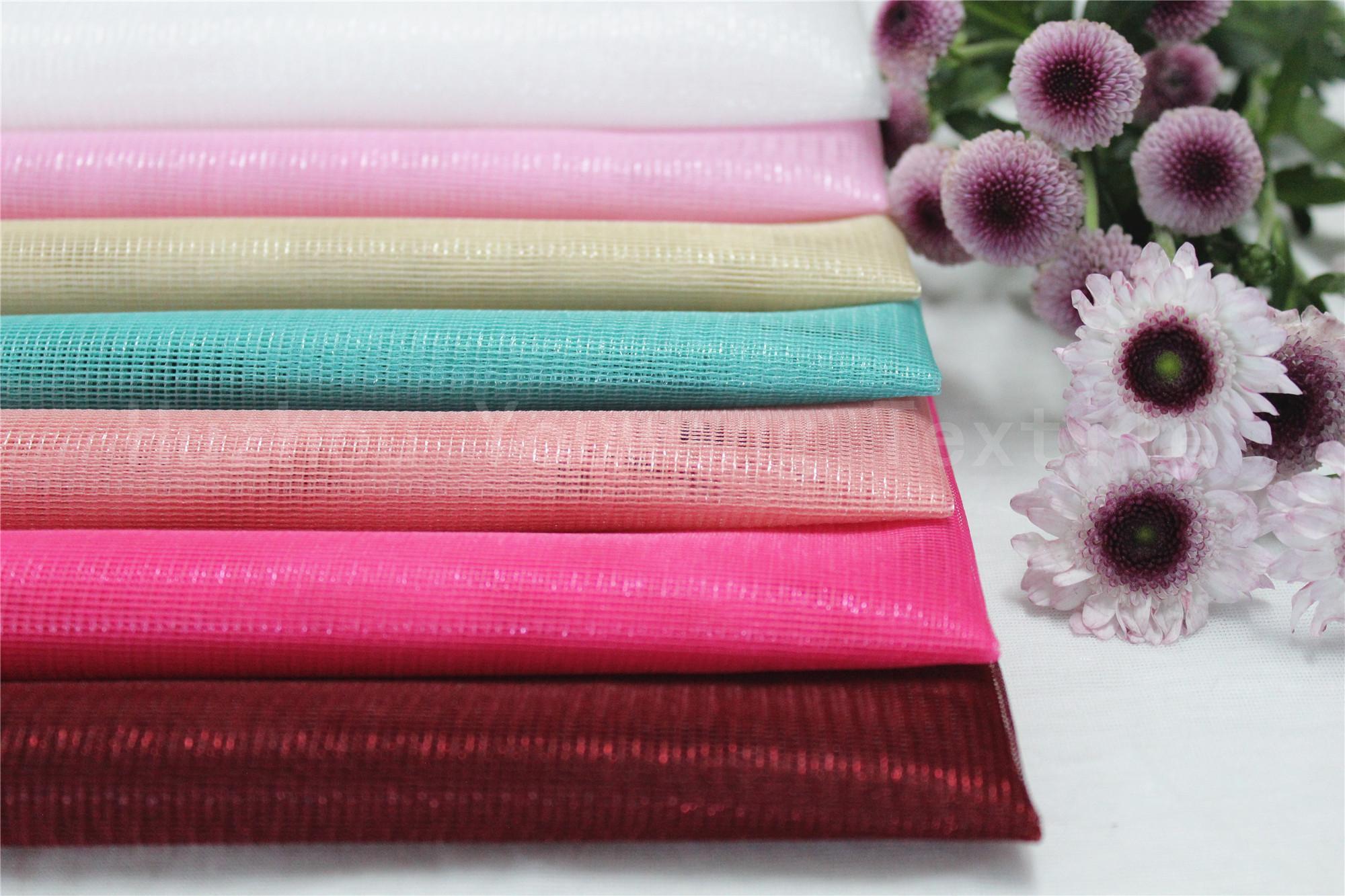 Shiny Tull Fabric For Curtain Using