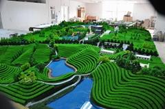 信陽文新茶山地形模型