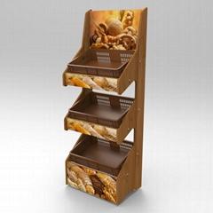 食品木制陈列架   日用品木展示架  商超木展示柜