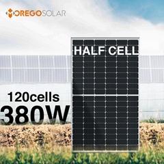 高效能太阳能电池板单晶半片120片光伏电池板380w 375w 370w 365w 360w