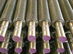 Laser welding finned tube