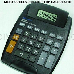 Big size desktop calculator with 8 digits display dual power cheap price