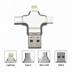 4in1 OTG Smartphone USB Falsh Drive 128GB