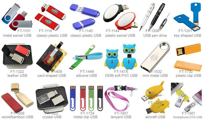 Custom Branding Swivel USB Flash Drive 16GB 5