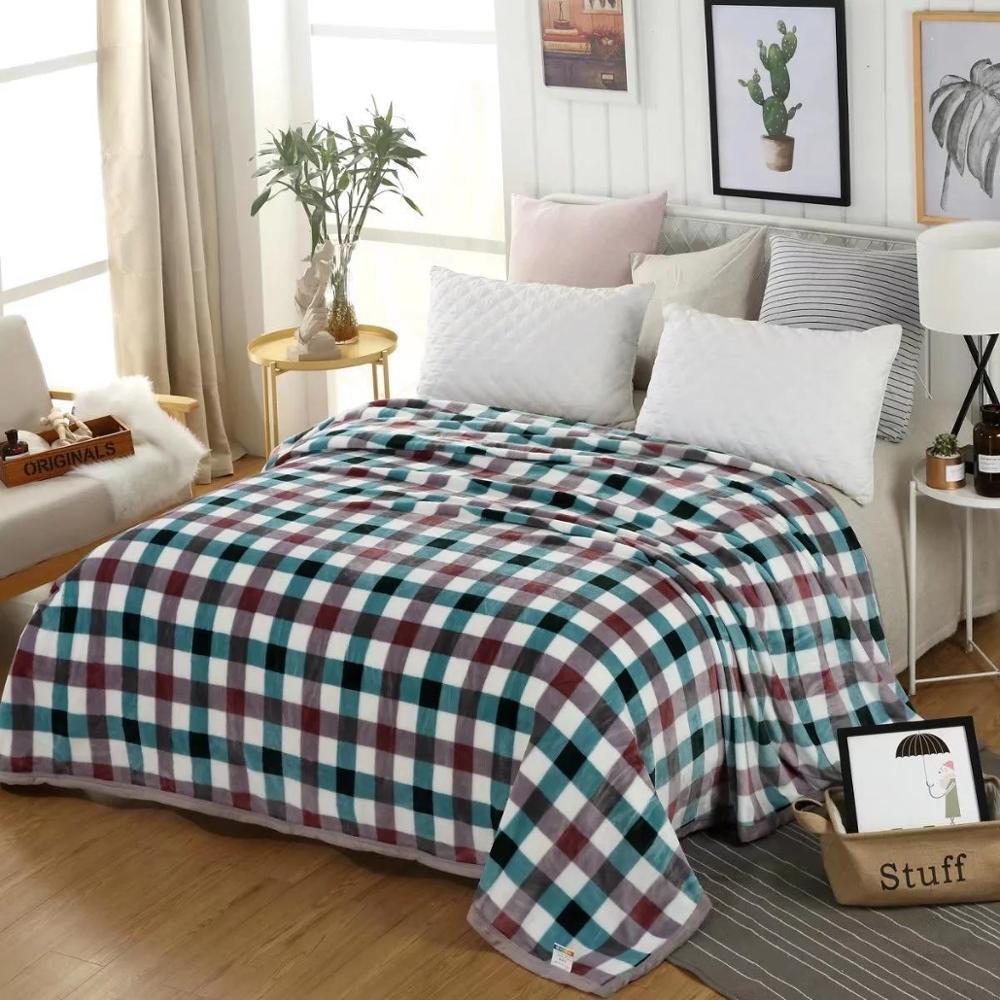 modern coral fleece blanket office nap flannel blanket gift blanket  2
