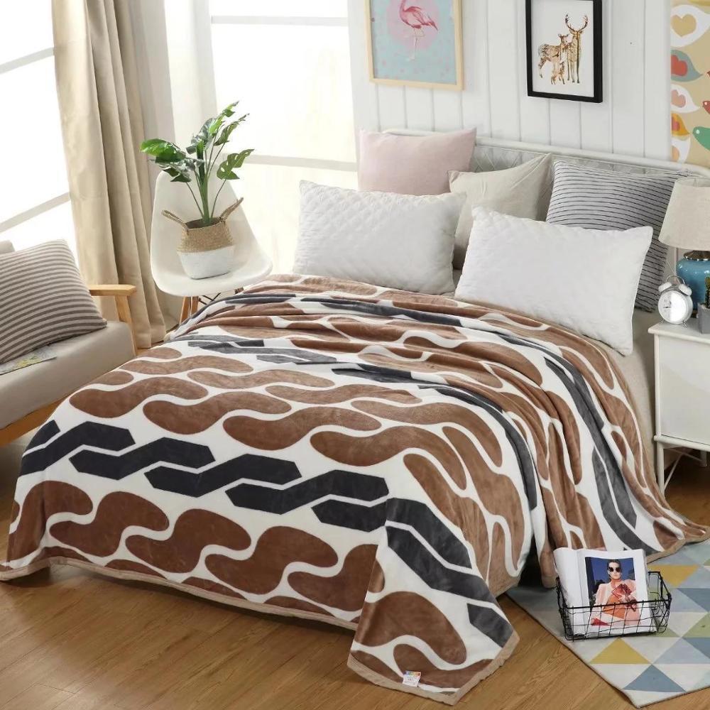 modern coral fleece blanket office nap flannel blanket gift blanket  5