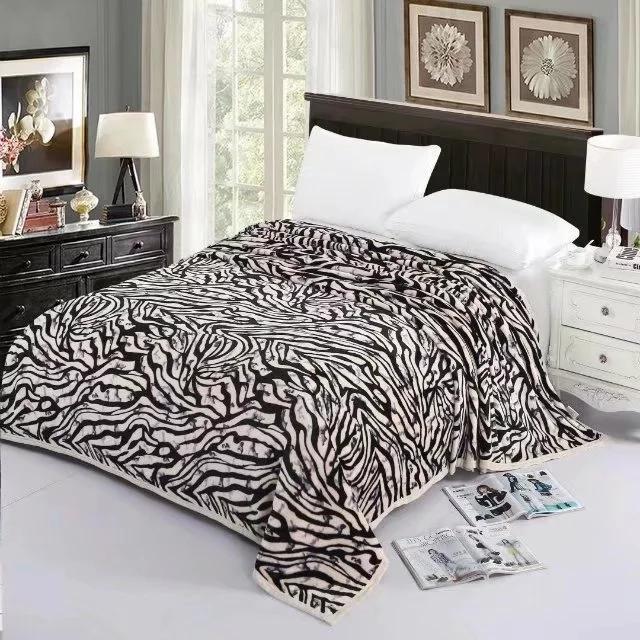 modern coral fleece blanket office nap flannel blanket gift blanket  1