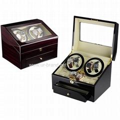 Urbrand Luxury Glossy Wooden Rotation Watch Winder Box