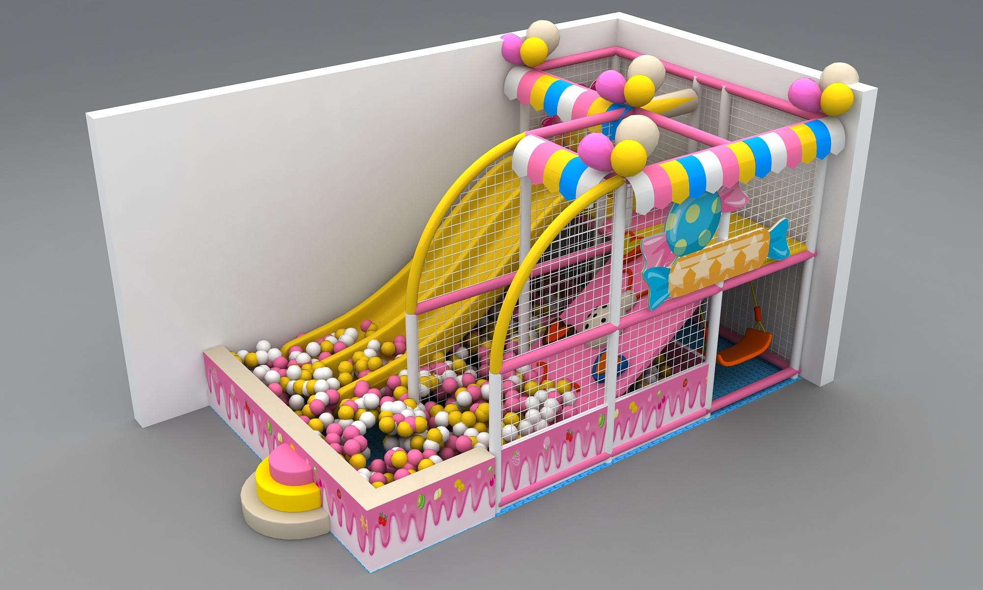 Mini Soft Indoor playground for Toddlers with Ball pool and Slide  1