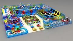 Popular Children Indoor playground  large commercial trampoline park