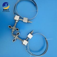 光缆引线夹具不锈钢带型夹具OPGW光缆引下线夹