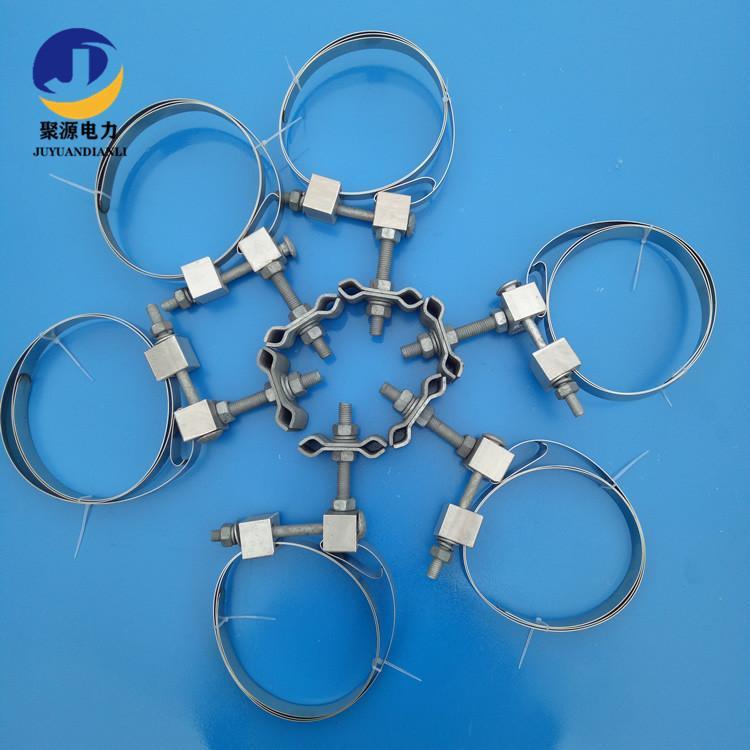 光缆引线夹具不锈钢带型夹具OPGW光缆引下线夹 2