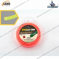 High efficiency grass cutter nylon line different shape trimmer line