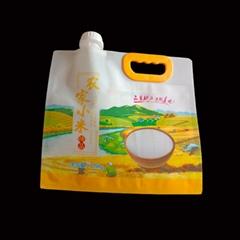现货农家小米袋 富硒大米生态米吸嘴复合袋