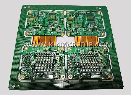 8 Layer Impedance Control Rigid Flex PCB 1