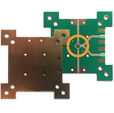 Step plated PCB 1