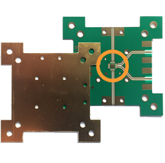 Step plated PCB