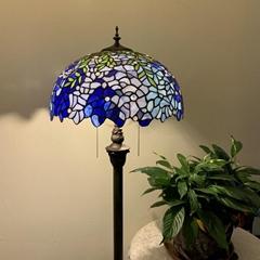 復古彩色玻璃臥室客廳裝飾燈蒂凡尼落地燈