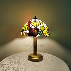 定製批發手工仿古彩色酒店居家臥房玻璃蒂芙尼臺燈