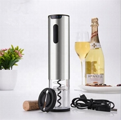 Factory Price Automatic Rechargeable Electric Wine Opener With Foil Cutter