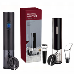 Dropshipping  Stainless Steel USB Electric Wine Opener Gift Set