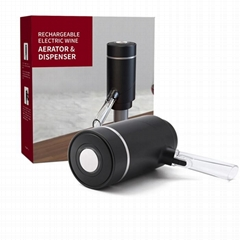 Amazon Hot Sell Wine Accessory Electric Wine Aerator Pourer Dispenser