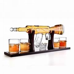 800ml Drinking Vessel Pyrex Glass Crystal Gun Shape Whiskey Decanter