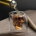 Double Wall Cool Crystal Skull Shot Glass Drink Wine Cup for A Whiskey Halloween 3