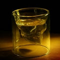 Double Wall Cool Crystal Skull Shot Glass Drink Wine Cup for A Whiskey Halloween 5