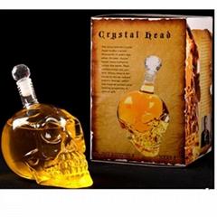 New Design 1000ml Skeleton Head Skull Glass Bottle For Wine