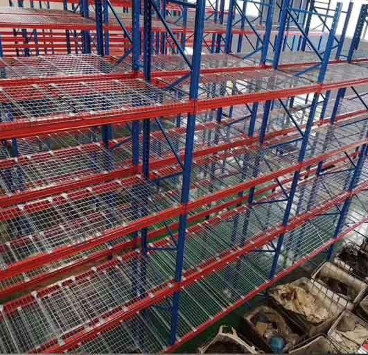 High Strength Heavy Duty Racking Protective Steel Wire Mesh Partition  4