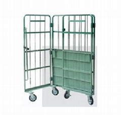 Logistics Truck   Wire Containers Exporter  Pallet Rack Wire Mesh Deck