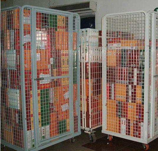 Logistics Truck   Wire Containers Exporter  Pallet Rack Wire Mesh Deck  2