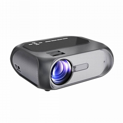 Factory wholesale 1280*720 hd lcd led mini portable video movie projector T7