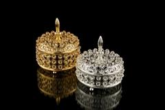 Luxury crystal Jewelry box gold Jewelry display holder Jewel case