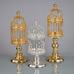 Metal palatial shape Candle holder Luxury interior decor pillar candle holder