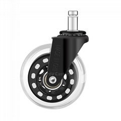 3 Inch Black Rollerblade Caster Wheels for Office Chair Replacement Wheels