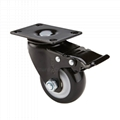 Furniture Accessories Table Swivel Casters With Polyurethane Wheels