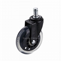 Replacement Caster Wheels for Office Chair 3 Inch Black Wheel Rollerblade Style