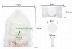 100%棉环保可降解压缩毛巾