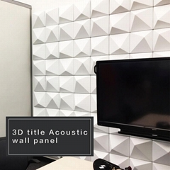 3D Title Acoustic Wall Panel