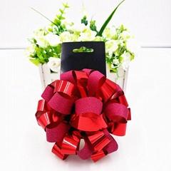 Pom pom flower bows
