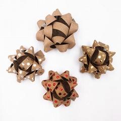 Kraft paper star bow