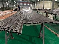 Titanium tube for heat exchanger and condenser