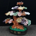 Natural Quartz Beads Made Gemstone Crystal Bonsai Tree Promotion Gift