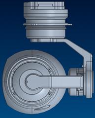5X dual sensors zoom gimbal camera for uav with thermal imager