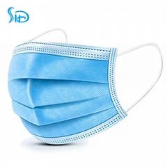 Disposable three-layer non-woven non-medical masks